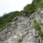 北穂高岳への道