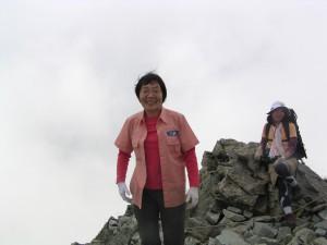 おまけ。北穂高岳山頂で会った田部井さん