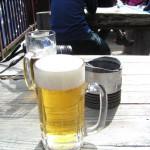 下山後にやっぱりビール!