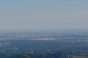 棒ノ嶺(棒ノ折山)から見たスカイツリー