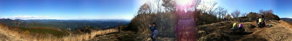 棒ノ嶺(棒ノ折山)山頂パノラマ
