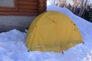 山頂テント